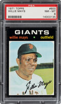Baseball Cards:Singles (1970-Now), 1971 Topps Willie Mays #600 PSA NM-MT 8. Mays had ...