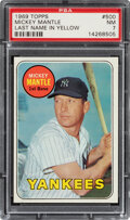 Baseball Cards:Singles (1960-1969), 1969 Topps Mickey Mantle (Last Name In Yellow) #500 PSA NM 7....