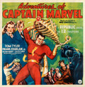 """Movie Posters:Serial, Adventures of Captain Marvel (Republic, 1941). Fine+ on Linen. Six Sheet (79"""" X 81"""").. ..."""