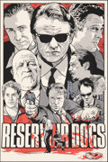 """Movie Posters:Crime, Reservoir Dogs, 62/150 by Joshua Budich (Spoke Art, 2011). Mint. Hand Signed and Numbered Limited Edition Screen Print (36"""" ..."""