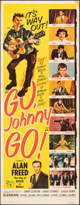 """Go, Johnny, Go! (Hal Roach, 1959). Folded, Fine+. Insert (14"""" X 36""""). Rock and Roll"""