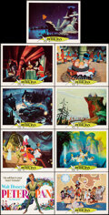 """Movie Posters:Animation, Peter Pan (Buena Vista, R-1969). Very Fine+. Lobby Card Set of 9 (11"""" X 14""""). Animation.. ... (Total: 9 Items)"""