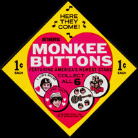 """The Monkee Buttons (Raybert Productions, 1967). Very Fine. Button Set of 6 (1"""" Diameter) with Original Label (3.5&q..."""