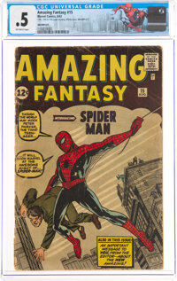 Amazing Fantasy #15 Incomplete (Marvel, 1962) CGC PR 0.5 Off-white pages