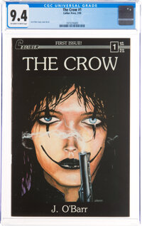 The Crow #1 (Caliber Press, 1989) CGC NM 9.4 Off-white to white pages