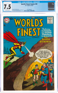 World's Finest Comics #90 (DC, 1957) CGC VF- 7.5 Off-white pages