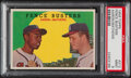 """Baseball Cards:Singles (1950-1959), 1959 Topps """"Fence Busters"""" - Aaron and Mathews #212 PSA Mint 9. ..."""