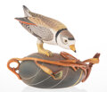 Ceramics & Porcelain, Annette Corcoran (American, b. 1930). Piping Plover Teapot, 1998. Painted porcelain. 7-3/4 x 8-3/4 x 5-1/4 inches (19.7 ...