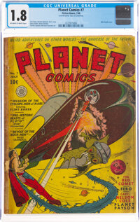 Planet Comics #7 (Fiction House, 1940) CGC GD- 1.8 Off-white to white pages