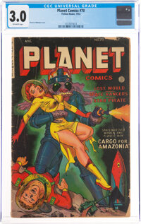 Planet Comics #70 (Fiction House, 1953) CGC GD/VG 3.0 Off-white pages