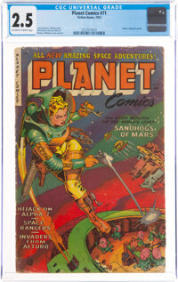 Planet Comics #71 (Fiction House, 1953) CGC GD+ 2.5 Off-white to white pages