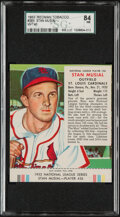 Baseball Cards:Singles (1950-1959), 1953 Red Man Stan Musial (With Tab) #26N SGC 84 NM....