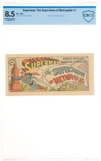 Superman #1B The Supershow of Metropolis (DC, 1955) CBCS VF+ 8.5 Off-white to white pages