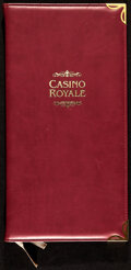 """Movie Posters:James Bond, Casino Royale (MGM, 2006). Very Fine/Near Mint. Prop Bar Menu (4 Pages, 6.75"""" X 13"""").. ..."""