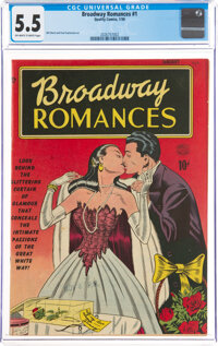 Broadway Romances #1 (Quality, 1950) CGC FN- 5.5 Off-white to white pages