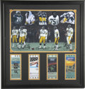 """Football Collectibles:Balls, Pittsburgh Steeler Steel Curtain Signed Photograph. The """"Steel Curtain"""" was the nickname of the front four of the famous de..."""