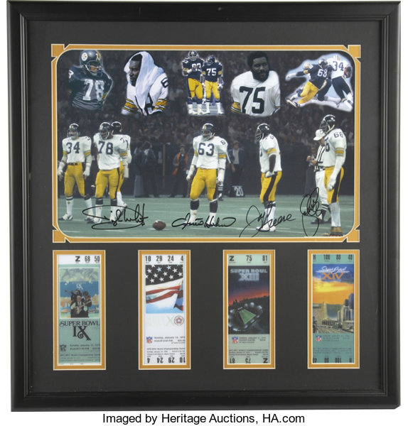 355d5a6a673 Football Collectibles:Balls, Pittsburgh Steeler Steel Curtain Signed  Photograph. The