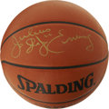 Basketball Collectibles:Balls, Julius Erving Single Signed Basketball. Dr. J revolutionized thegame with his aggressive above the rim style of play. Jul...