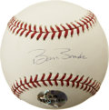 Autographs:Baseballs, Barry Bonds Single Signed Baseball. Exceptional example of a singlefrom the man who this season eclipsed Hank Aaron's care...