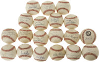 Amazing Collection of Rookie of the Year Single Signed Baseballs Lot of 101. Since 1947 baseball's Rookie of the Year Aw...