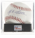 Autographs:Baseballs, Y.A. Tittle Single Singed Baseball PSA Mint+ 9.5. One of the toughest and most prolific quarterbacks, Tittle was the first ...