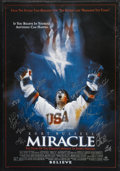 """Hockey Collectibles:Others, """"Miracle"""" Movie Poster Signed by the 1980 Team USA Hockey Squad. 1980's """"Miracle on Ice"""" as it came to be known, was one of..."""