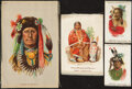 """Non-Sport Cards:Lots, 1910 S66 """"Indian Silks"""" - Small, Medium, Large (43). ..."""