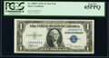 Small Size:Silver Certificates, Fr. 1608* $1 1935A Silver Certificate Star. PCGS Gem New 6...