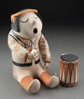 American Indian Art:Pottery, A Cochiti Polychrome Drummer...