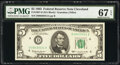 Small Size:Federal Reserve Notes, Fr. 1967-D $5 1963 Federal Reserve Note. PMG Superb Gem Unc 67 EPQ.. ...