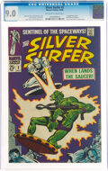 Silver Age (1956-1969):Superhero, The Silver Surfer #2 (Marvel, 1968) CGC VF/NM 9.0 Off-white to white pages....