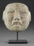 Pre-Columbian:Stone, An Olmec Serpentine Mask Height: inches...