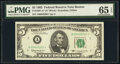 Small Size:Federal Reserve Notes, Fr. 1967-A* $5 1963 Federal Reserve Star Note. PMG Gem Unc...