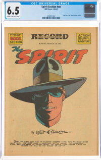 The Spirit (weekly newspaper section) 3/30/41 (Will Eisner, 1941) CGC FN+ 6.5 Cream to off-white pages