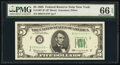 Small Size:Federal Reserve Notes, Fr. 1967-B* $5 1963 Federal Reserve Star Note. PMG Gem Uncirculated 66 EPQ.. ...