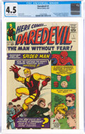 Silver Age (1956-1969):Superhero, Daredevil #1 (Marvel, 1964) CGC VG+ 4.5 Off-white to white pages....