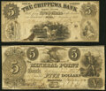 Obsoletes By State:Wisconsin, Mineral Point, WI- Mineral Point Bank $5 Jan. 1, 1840 Fine;. Pepin, WI- Chippewa Bank Counterfeit $5 Nov. 1, 1856 ... (Total: 2 notes)