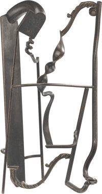 Rodger A. Mack (1938-2002) Untitled Bronze and brass 28-1/8 x 14-1/8 x 6-1/2 inches (71.4 x 35.9