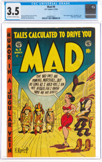 MAD #9 (EC, 1954) CGC VG- 3.5 Off-white to white pages