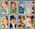 Non-Sport Cards:Lots, Lot of 6 Complete Sets of Gallaher British Cigarette Movie Cards, 1935-1939....