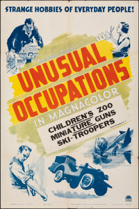 """Unusual Occupations (Paramount, 1941). Folded, Fine/Very Fine. Stock One Sheet (27"""" X 41""""). Short Subject"""