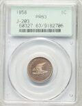 1858 P1C Flying Eagle Cent, Judd-203, Pollock-247, R.5, PR63 PCGS. PCGS Population: (12/31). NGC Census: (0/15). Fro...(...