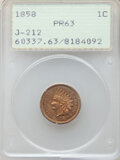 Patterns, 1858 P1C Indian Cent, Judd-212, Pollock-256,263, R.4, PR63 PCGS. PCGS Population: (36/62). NGC Census: (18/34). . From...