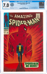 The Amazing Spider-Man #50 (Marvel, 1967) CGC FN/VF 7.0 White pages