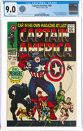 Silver Age (1956-1969):Superhero, Captain America #100 (Marvel, 1968) CGC VF/NM 9.0 White pages....