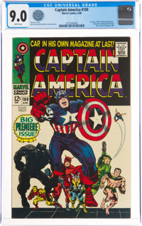 Captain America #100 (Marvel, 1968) CGC VF/NM 9.0 White pages