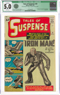 Silver Age (1956-1969):Superhero, Tales of Suspense #39 (Marvel, 1963) CGC Qualified VG/FN 5.0 White pages....