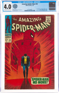 The Amazing Spider-Man #50 (Marvel, 1967) CGC VG 4.0 Off-white to white pages