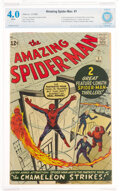 Silver Age (1956-1969):Superhero, The Amazing Spider-Man #1 (Marvel, 1963) CBCS VG 4.0 White pages....