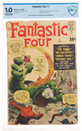 Silver Age (1956-1969):Superhero, Fantastic Four #1 Incomplete (Marvel, 1961) CBCS FR 1.0 Off-white to white pages....